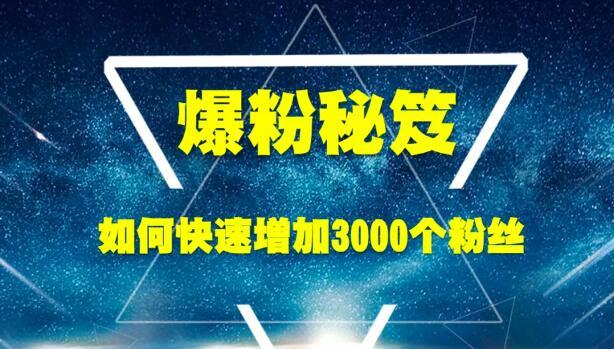 1587316399 5ef6909acca40fe - 王通《爆粉秘笈》如何快速增加3000个精准粉丝